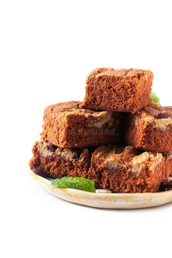 Le tournesol organique fait maison de fondant de concept sain de nourriture graine des 'brownie' de beurre d'isolement sur le fon photographie stock libre de droits