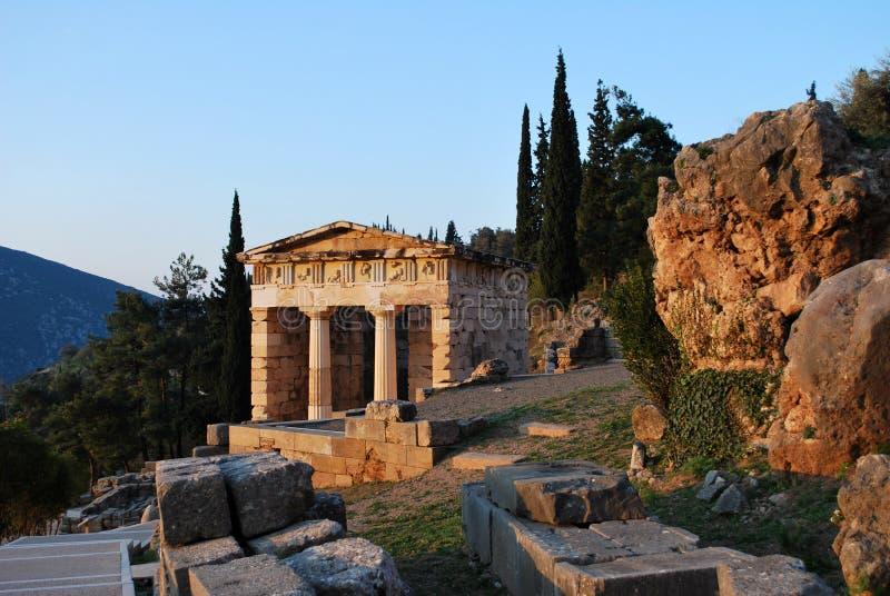 Le trésor athénien à Delphes photos stock