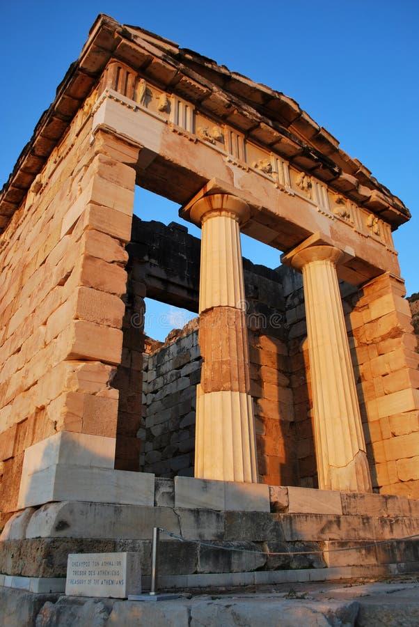 Le trésor athénien à Delphes photo stock