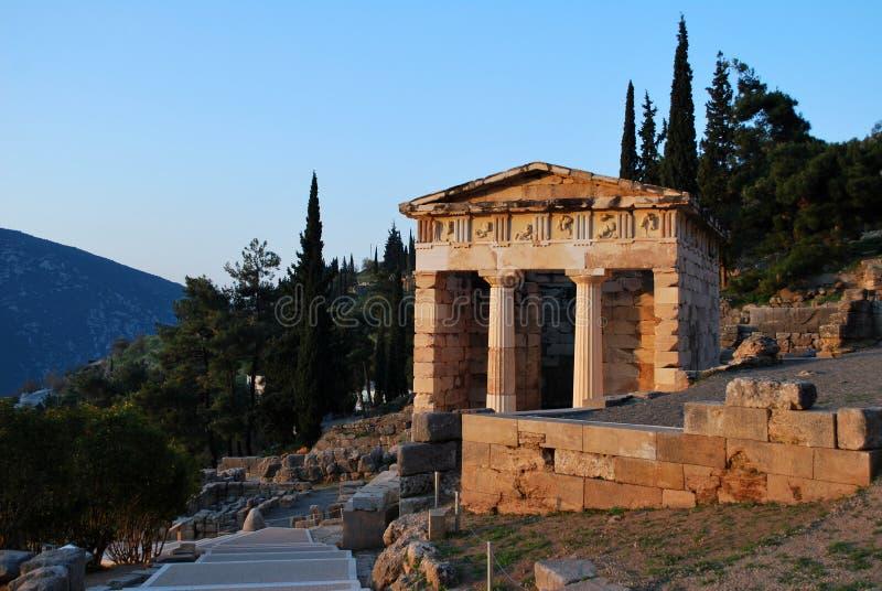 Le trésor athénien à Delphes photographie stock