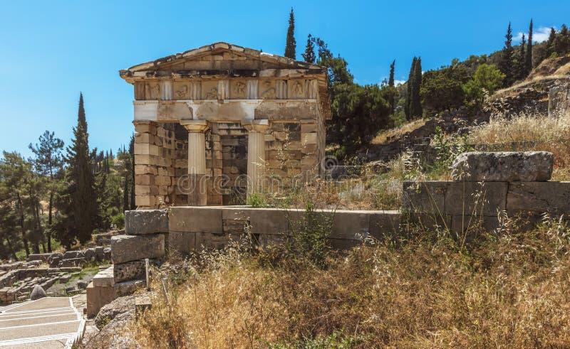 Le trésor athénien - Delphes - Grèce photos stock
