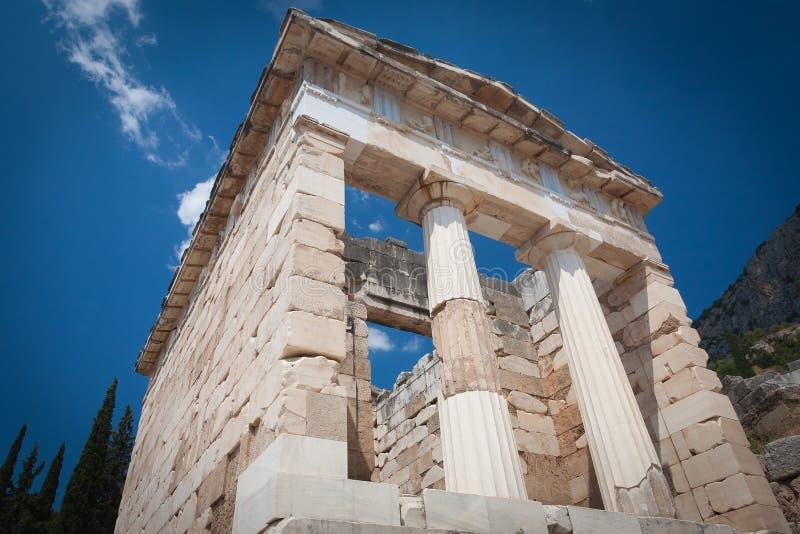 Le trésor athénien reconstruit, Delphes, Grèce photo libre de droits