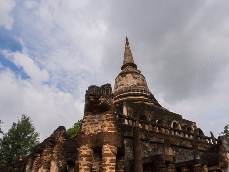 Le tracce di storia delle nazioni Tailandia, rovine, credono di buddismo fotografie stock libere da diritti
