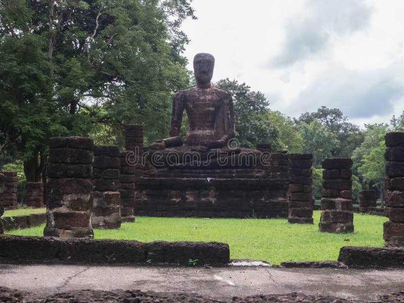 Le tracce di storia delle nazioni Tailandia, rovine, credono di buddismo immagini stock