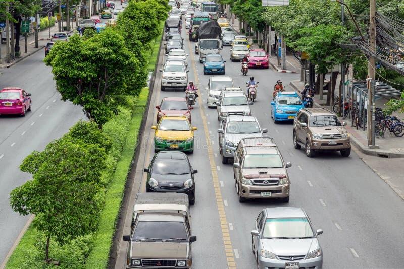 Le trafic à Bangkok Thaïlande photographie stock libre de droits