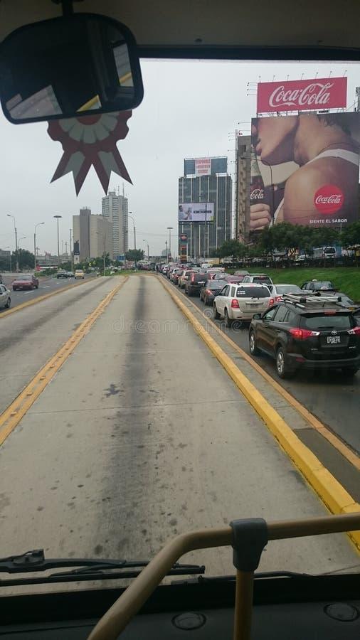 Le trafic à Lima images libres de droits