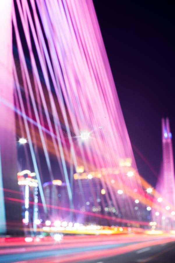 Le trafic brouillé de pont photos libres de droits