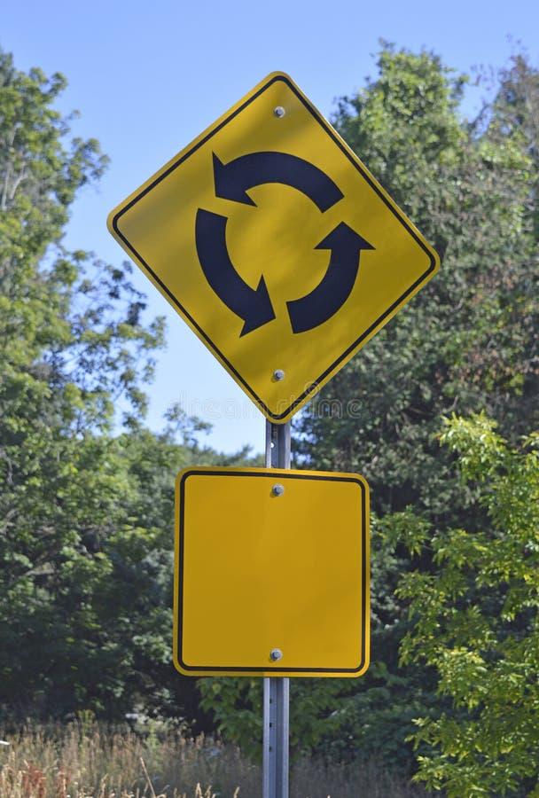 Le trafic - cercle de la vie - décisions en avant photos stock