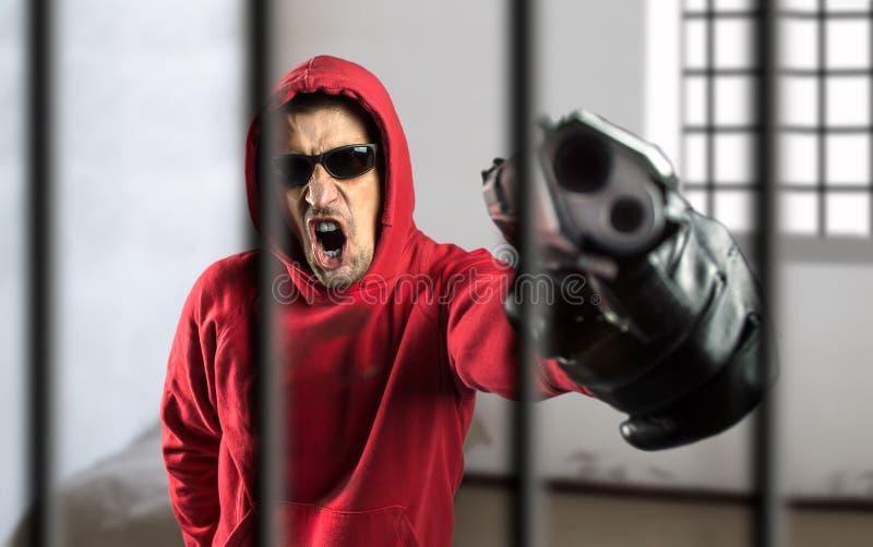 Le trafic d'armes en prison photographie stock libre de droits