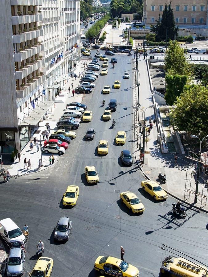 Le trafic d'Athènes, Grèce photographie stock