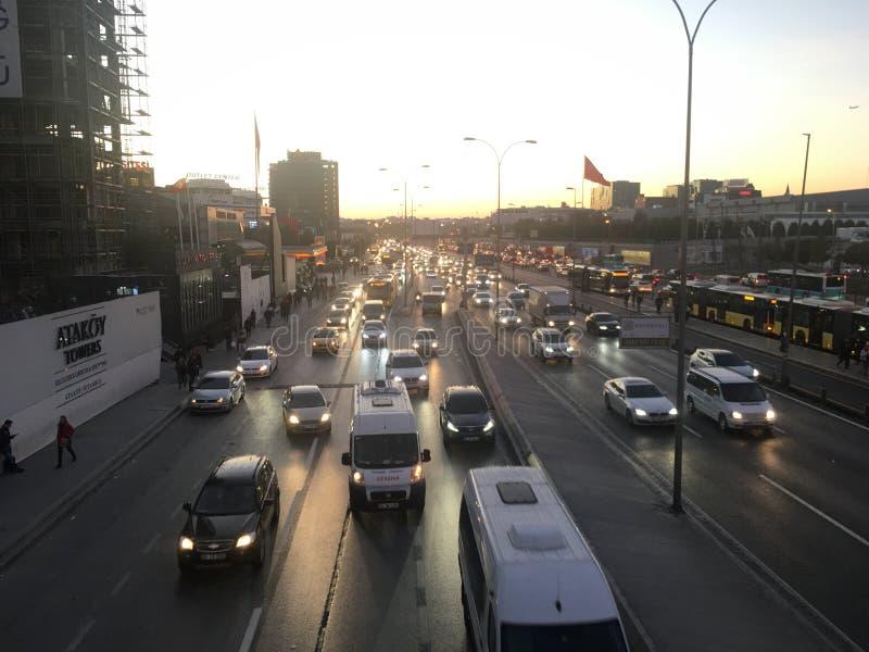 Le trafic dans des rues de Turkey's image libre de droits