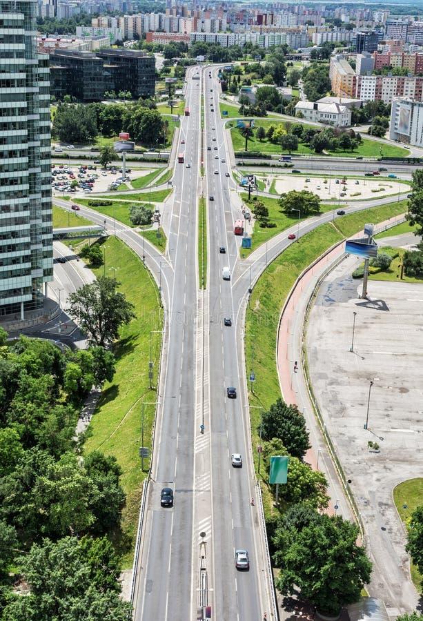 Le trafic dans la ville, scène urbaine photo stock