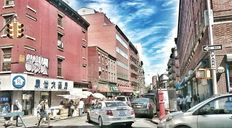 le trafic dans NYC images stock
