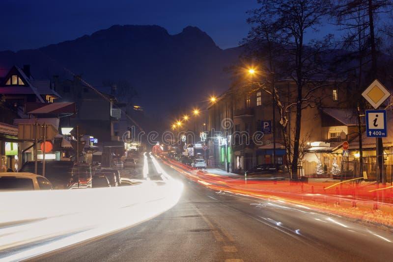 Le trafic dans Zakopane photos libres de droits