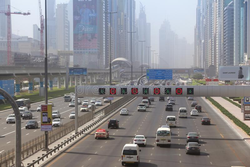 Le trafic de Dubaï photo libre de droits