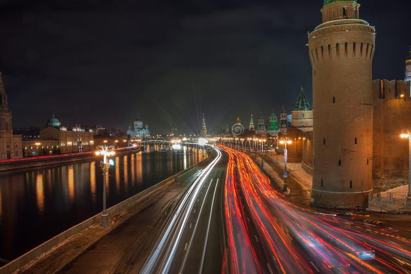 Le trafic de Moscou photographie stock