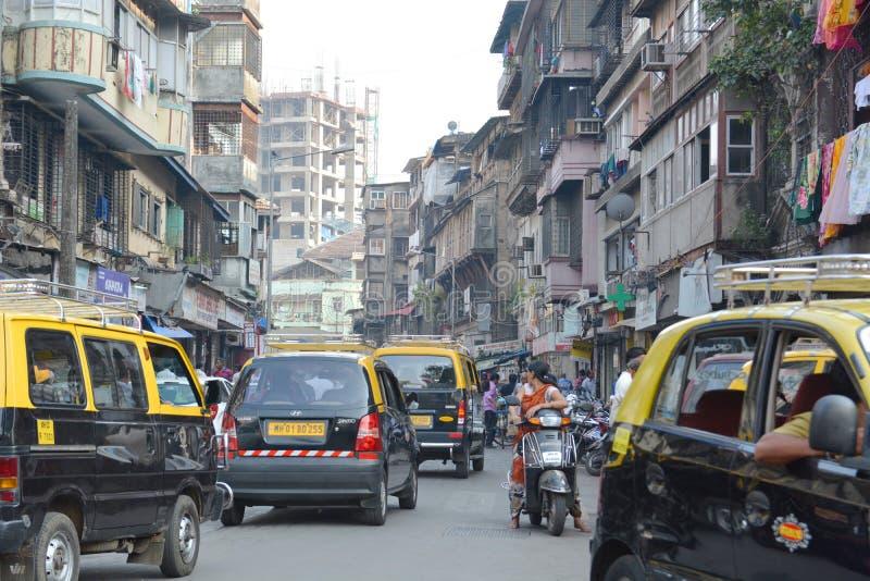 Le trafic de Mumbai images libres de droits