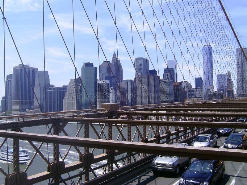 Le trafic de pont de Brooklyn photo stock