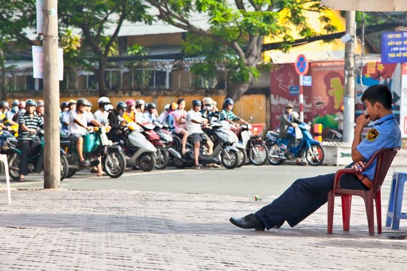 Le trafic en Ho Chi Minh ou Saigon, Vietnam photographie stock