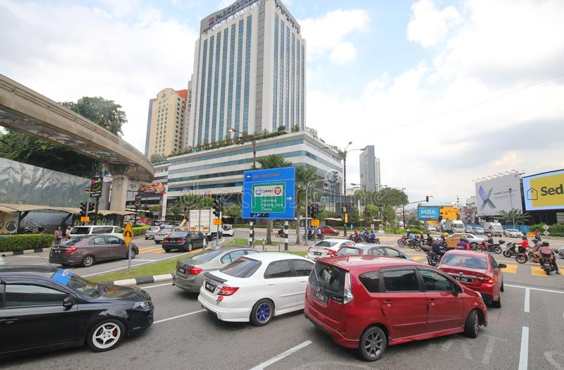 Le trafic Kuala Lumpur Malaysia image stock