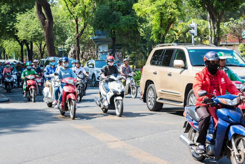 Le trafic occupé en Ho Chi Minh City photo stock