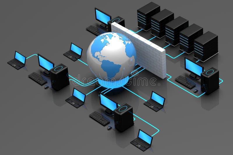 Le trafic sur Internet illustration de vecteur