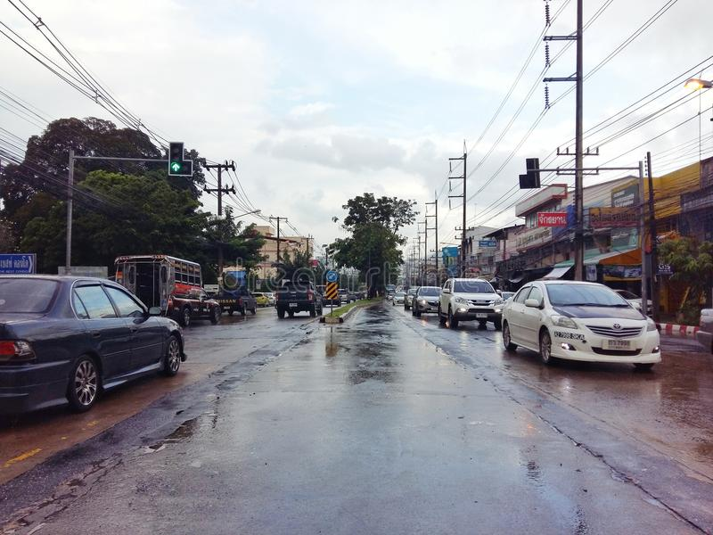 Le trafic, Thaïlande photos stock