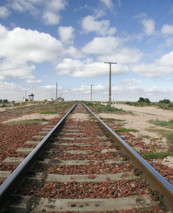 Le train dépiste l'Australie photographie stock libre de droits