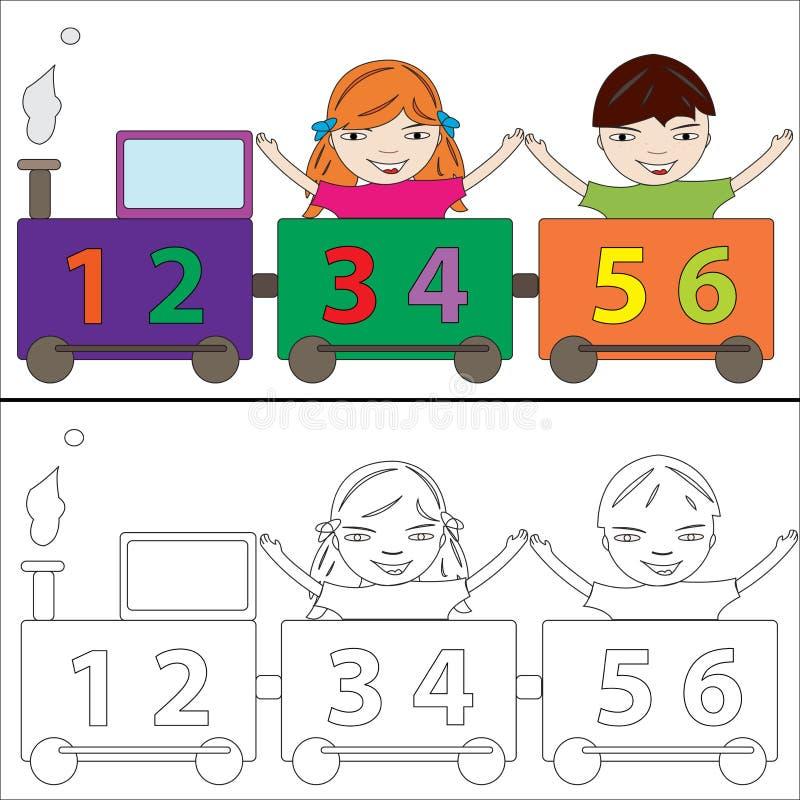 Le train de numéros illustration stock