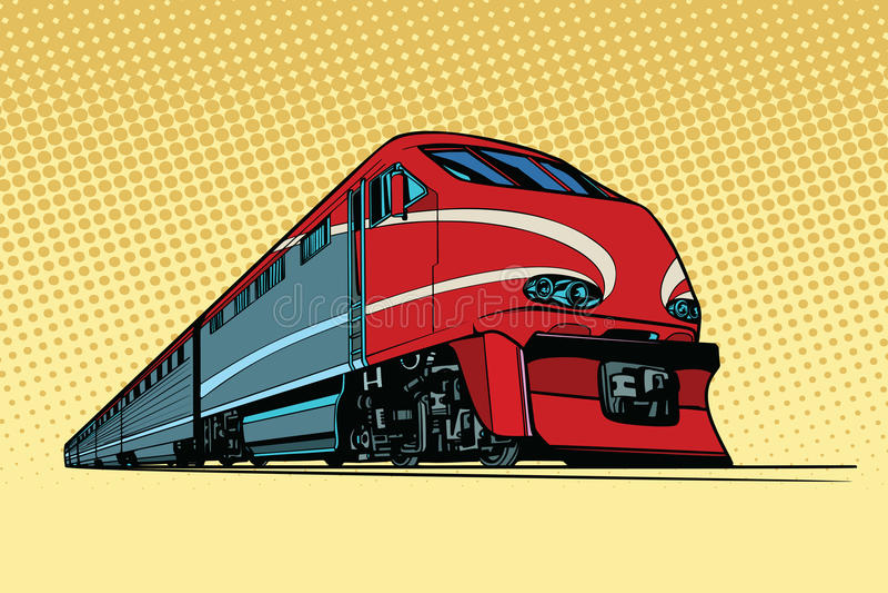 Le train de voyageurs à grande vitesse illustration libre de droits