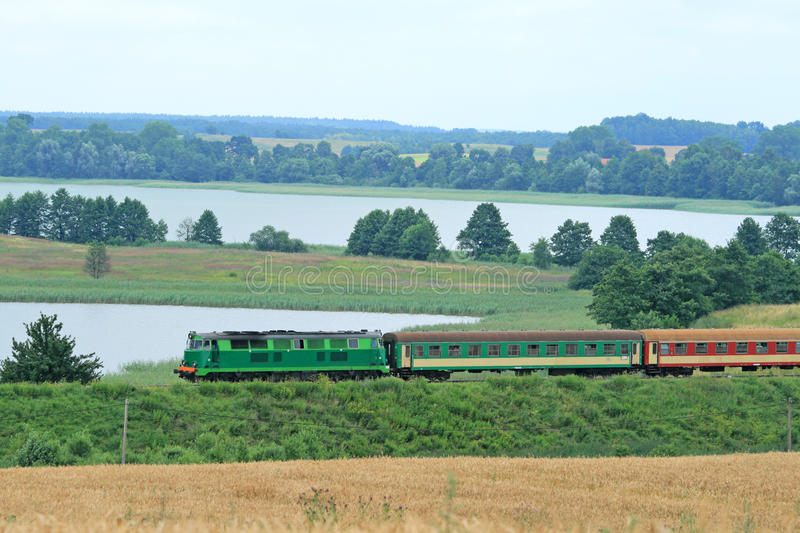 Le train de voyageurs photo stock
