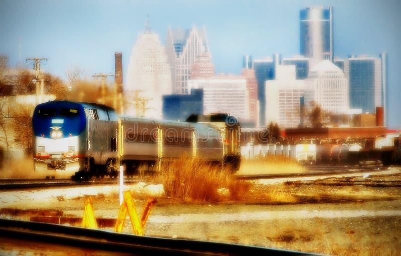 Le train de voyageurs photographie stock