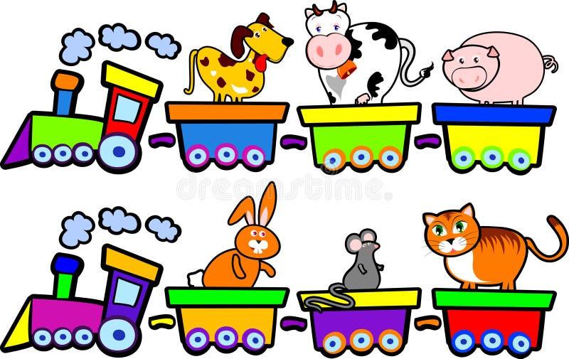 Le train des animaux de ferme illustration stock