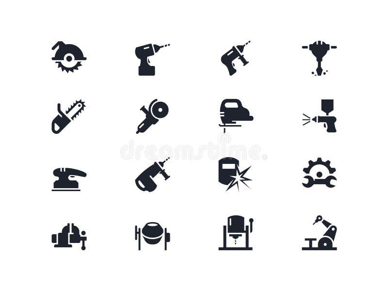 Le travail électrique usine des icônes Série de Lyra images stock