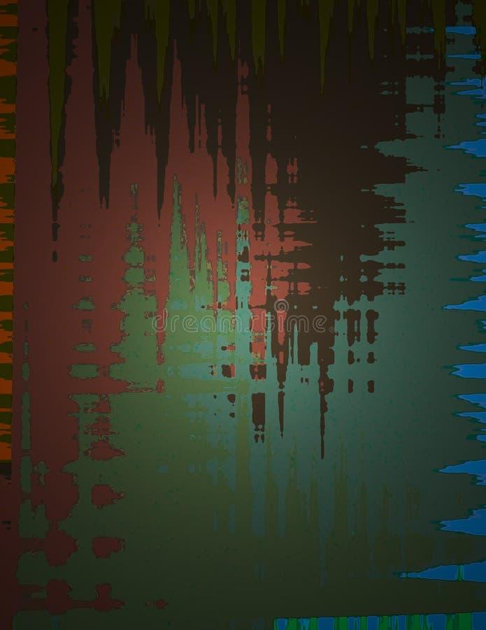 Le travail abstrait de peinture illustration de vecteur
