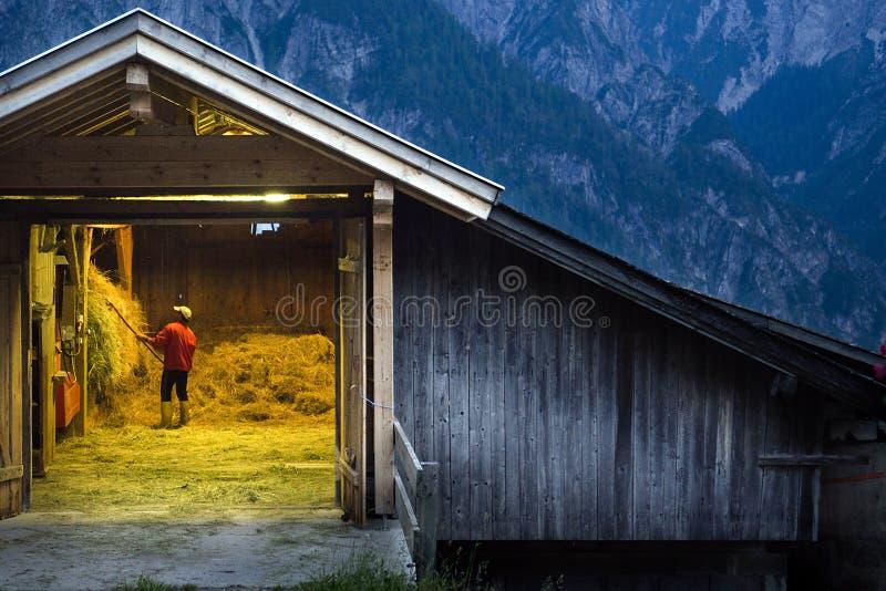 Le travail agricole est dur (l'OIN élevée) images libres de droits