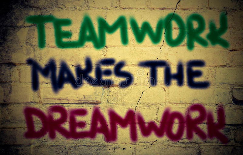 Le travail d'équipe fait le concept de Dreamwork image libre de droits