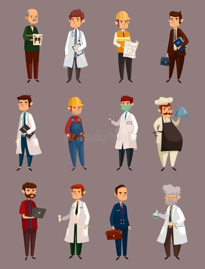 Le travail de docteur et homme de constructeur Travail et profession illustration libre de droits