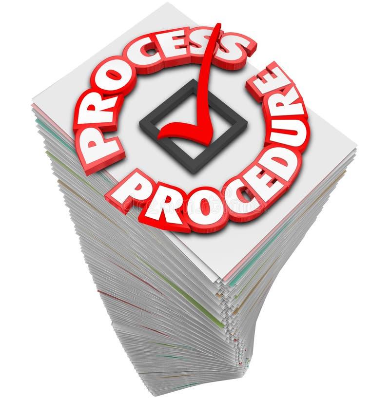 Le travail occupé de tâche de procédure de déroulement des opérations de pile de processus d'écritures illustration de vecteur