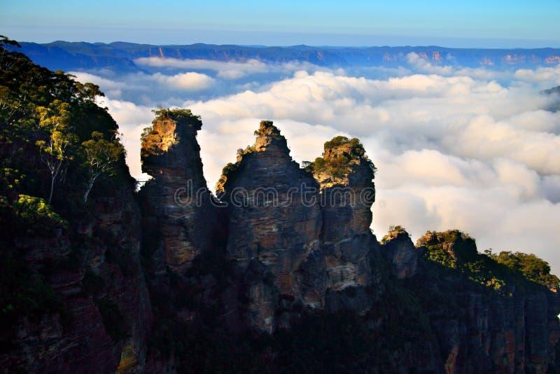 Le tre sorelle, Australia immagini stock