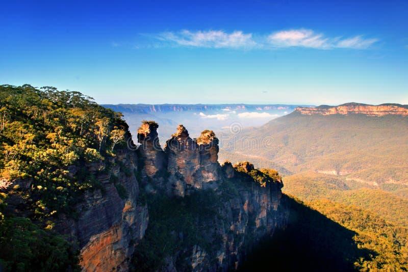 Le tre sorelle, Australia fotografia stock libera da diritti