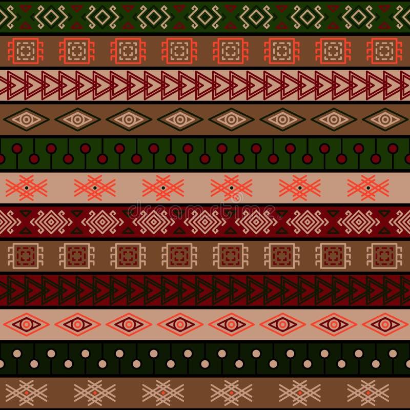 Le tribal a tricoté le style ethnique de modèle, indien ou africain sans couture de patchwork illustration libre de droits