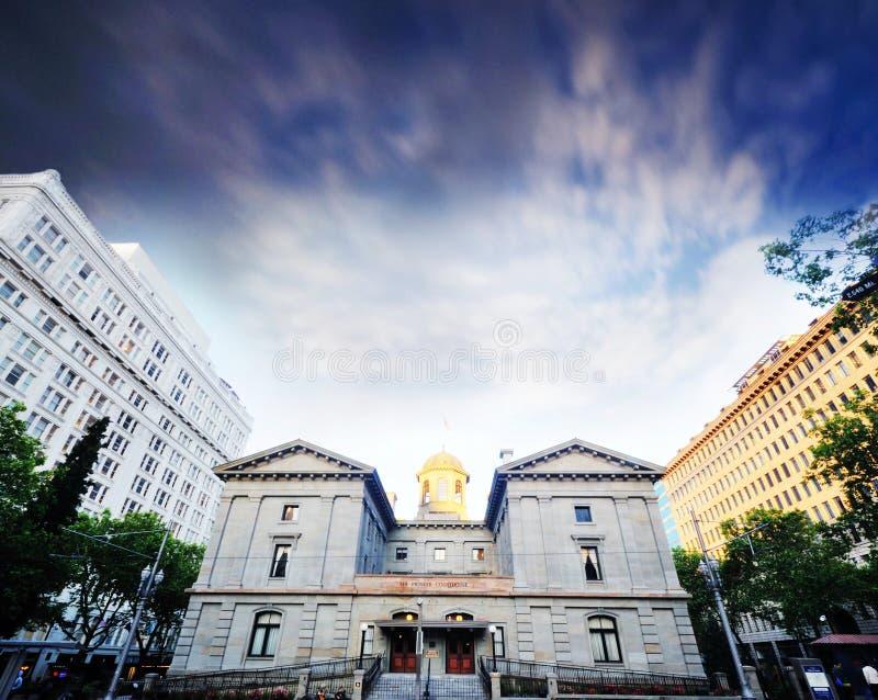 Le tribunal pionnier à Portland photographie stock