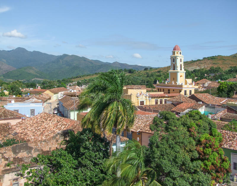Le Trinidad au Cuba image stock