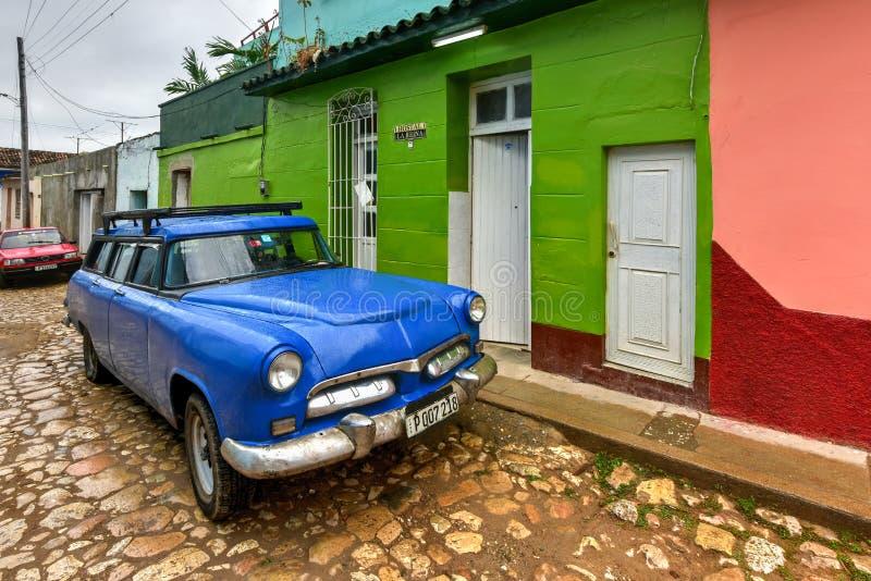 Le Trinidad automobile classique, Cuba images stock