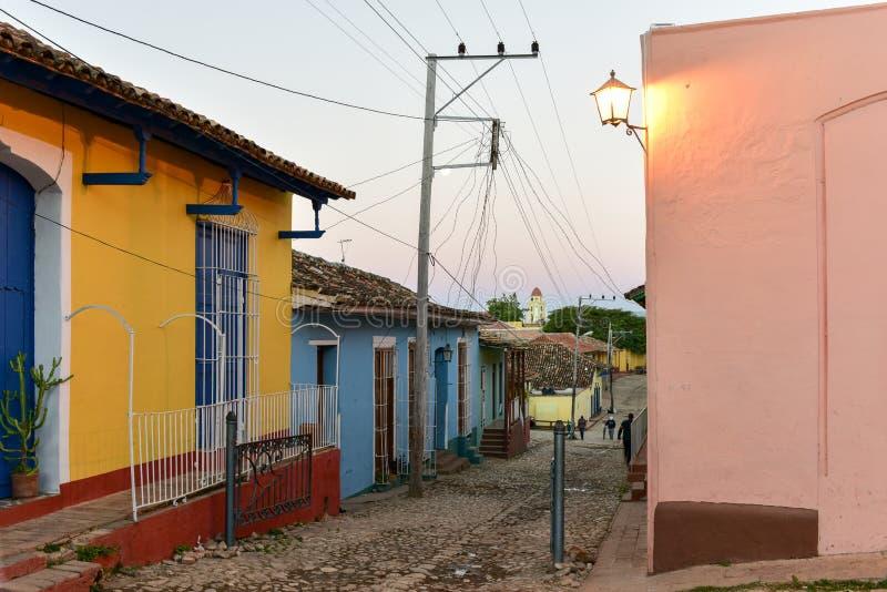 Le Trinidad colonial, Cuba images libres de droits