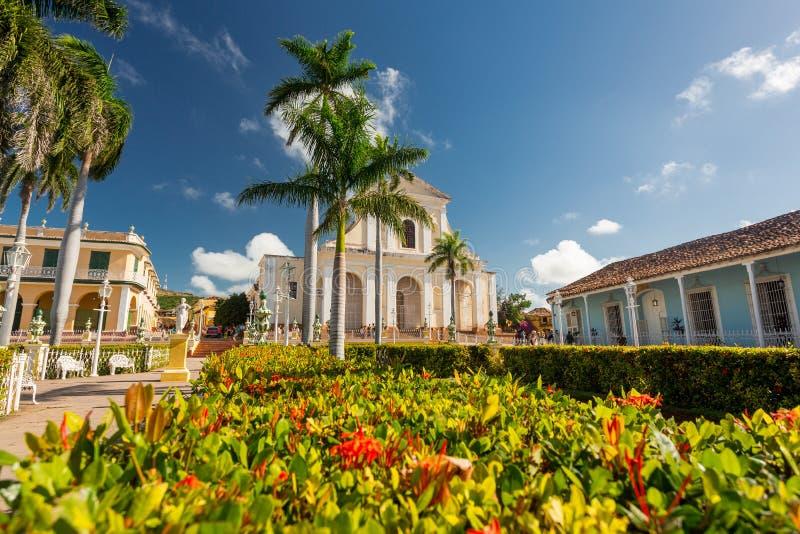 Le Trinidad, Cuba, église de la trinité sainte photographie stock libre de droits