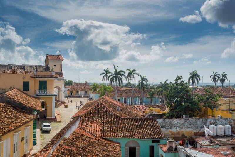 Le Trinidad, Cuba, église de la trinité sainte photographie stock