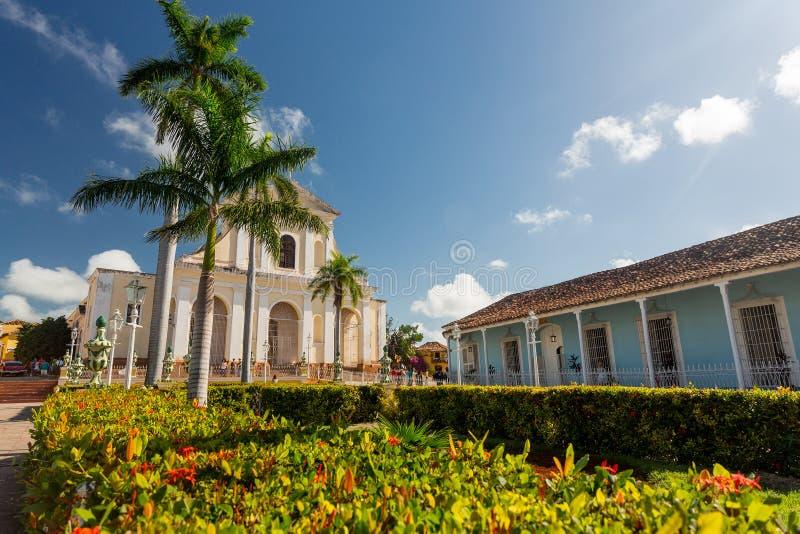 Le Trinidad, Cuba, église de la trinité sainte Iglesia de la Santisima Trinidad image libre de droits