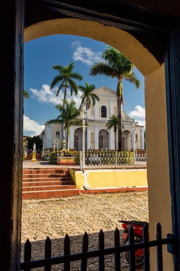 Le Trinidad, Cuba, église de la trinité sainte Iglesia de la Santisima Trinidad images libres de droits